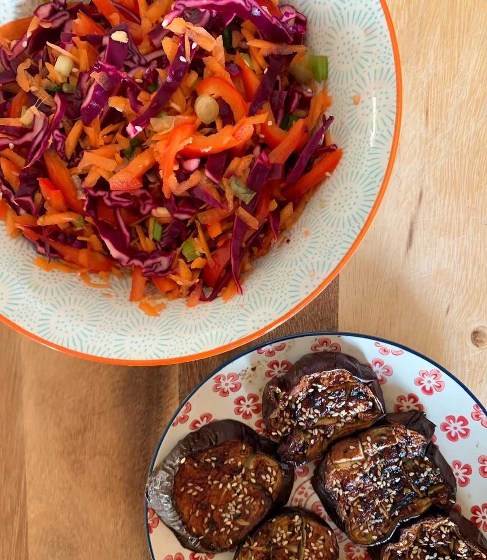 Lime, Ginger and Sesame Slaw