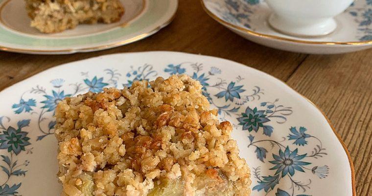 Oaty Rhubarb & Ginger Squares
