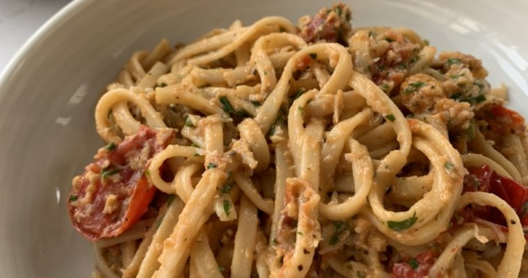 Crab, Chilli and Tomato Linguine
